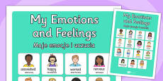 My Emotions and Feelings Vocabulary Poster Polish Translation