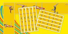 The Olympics Artistic Gymnastics Display Borders