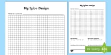 KS1 Igloo Design Activity Sheet