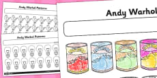 Activity Sheet Andy Warhol Patterns