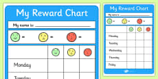 Editable Reward Chart