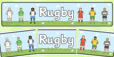 Rugby Display Banner