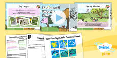 PlanIt - Science Year 1 - Seasonal Changes (Spring and Summer) Lesson 2: Seasonal Weather Spring Lesson Pack