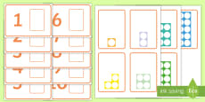 Workstation Pack: Number Shapes Matching Activity