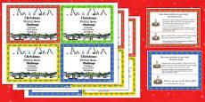 Christmas Mental Maths Challenge Cards Romanian Translation