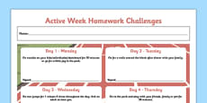 Active Week Homework Challenges