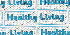 Healthy Living Display Banner
