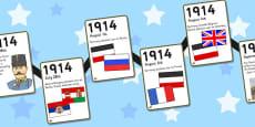 World War One A4 Display Timeline