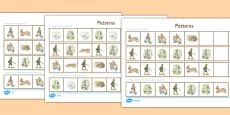 Beatrix Potter - The Story of a Fierce Bad Rabbit Differentiated Complete the Pattern Activity Sheet Pack
