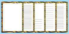 Tiger Print Page Borders