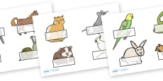 Editable Self Registration Labels (Pets)