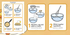 Pancake Recipe Sheet Arabic Translation