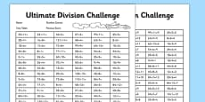 KS2 Ultimate Division Challenge