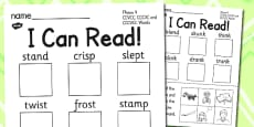I Can Read Phase 4! CCVCC, CCCVC and CCCVCC Words Activity Sheet