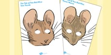 The Tale of Two Bad Mice Roleplay Masks (Beatrix Potter)