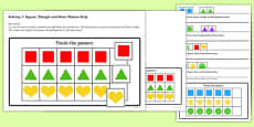 Workstation Pack: Shape Sequence Match Activities Set 2