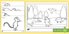 Anmalbilder für das Unterrichtsthema der Grüffelo