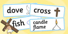 Christian Signs and Symbols Word Cards