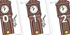 Numbers 0-100 on Clocks