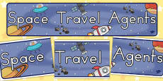 Australia - Space Travel Agents Role Play Banner