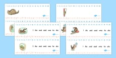 The Story of Miss Moppet Combined Number and Alphabet Strips