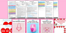EYFS Valentine's Day Craft Activity and Accompanying Planning Pack