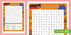 Carnival in Germany Word Search