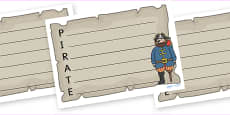 Pirate Acrostic Poem Templates