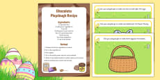 Easter Playdough Recipe and Mat Pack