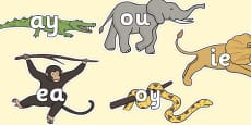 Phase 5 Phonemes on Jungle Animals
