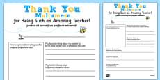 Teacher Thank You Letter Romanian Translation