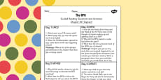 Guided Reading Questions Chapter 22 to Support Teaching on The BFG