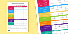 EYFS Early Years Outcomes Tracking Overview Sheet