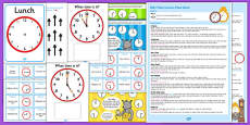 KS1 Maths Time Lesson Plan Ideas Resource Pack