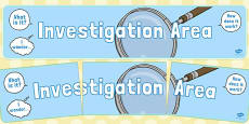 Investigation Area Display Banner