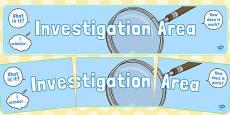 Investigation Area Display Banner