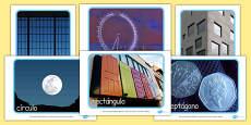 Formas geométricas 2D - fotos de exposición