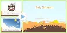 Presentación de la canción - Sol Solecito