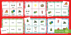 Christmas Bingo Board Game Spanish