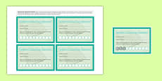 Incentive Stamp Cards Reading Book