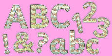 Beatrix Potter Display Letters and Numbers Pack