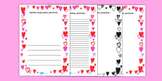 Mother's Day I Love My Mum Because Full Page Borders Polish