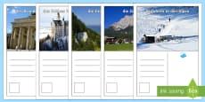 Tourist Attractions Postcards German