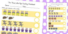 Australia - The Three Little Pigs Counting Sheet