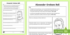 Alexander Graham Bell Fact File Research Activity Sheet