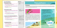 PlanIt - Art UKS2 - Plants and Flowers Planning Overview