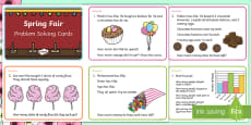 Spring Maths Challenge Cards