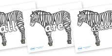 Tricky Words on Zebras