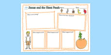 Book Review Writing Frame to Support Teaching on James and the Giant Peach