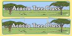 Acacia Themed Classroom Display Banner